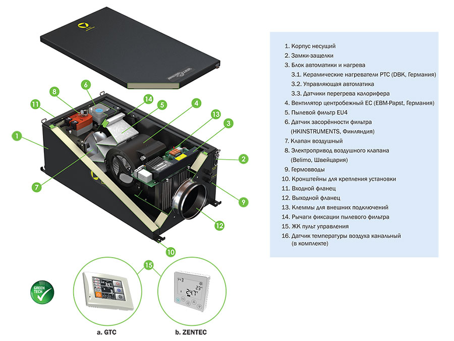 Комплектация Колибри-500 EC
