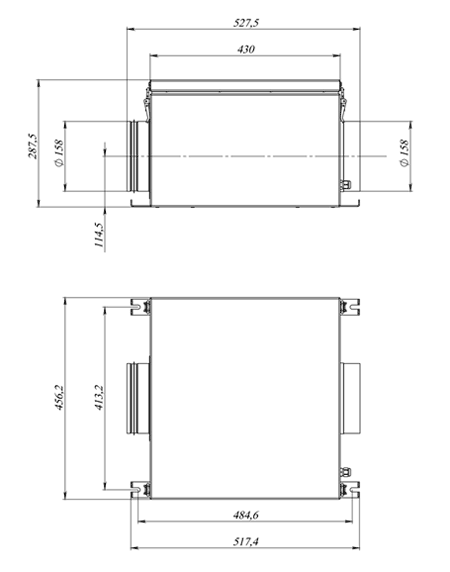 Чертёж вытяжного блока BW-700 EC