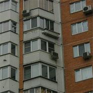 горизонтальная ПВУ-350 за окном