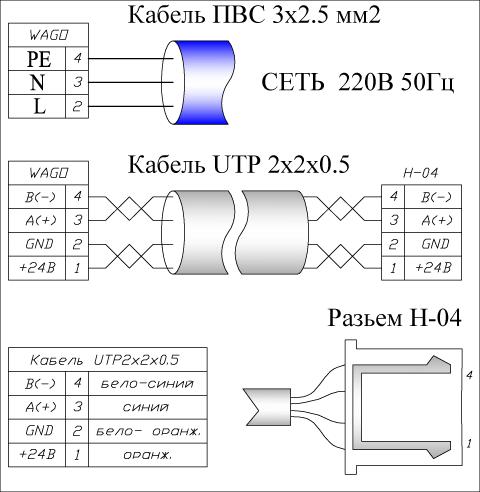 принципиальная схема установки