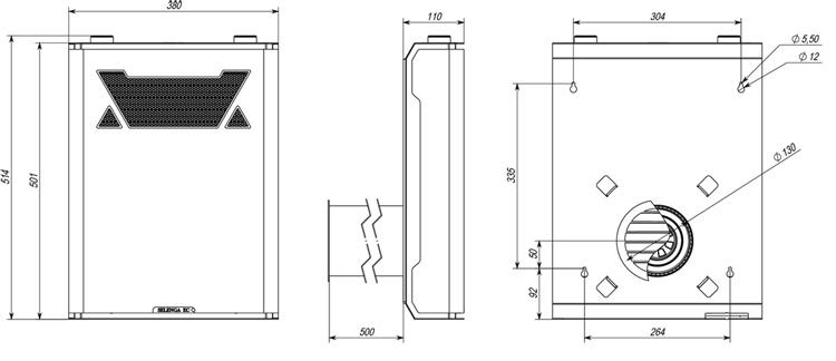 Чертёж приточной вентиляционной установки Селенга EC ФКО